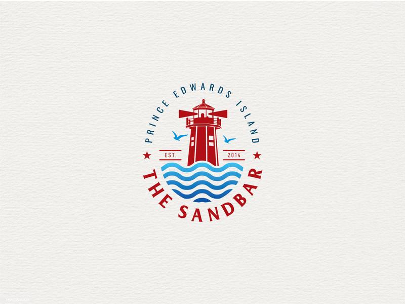 """The Sandbar"" Logo design project. web logo new logo logo 2020 brand identity creative lettering flat minimal branding logo"