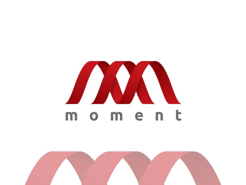 """moment"" logo logo 2020 typography brand identity new logo creative lettering flat minimal logo branding"