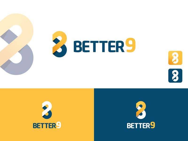 """BETTER_9"" logo typography new logo logo 2020 brand identity creative lettering flat minimal logo branding"