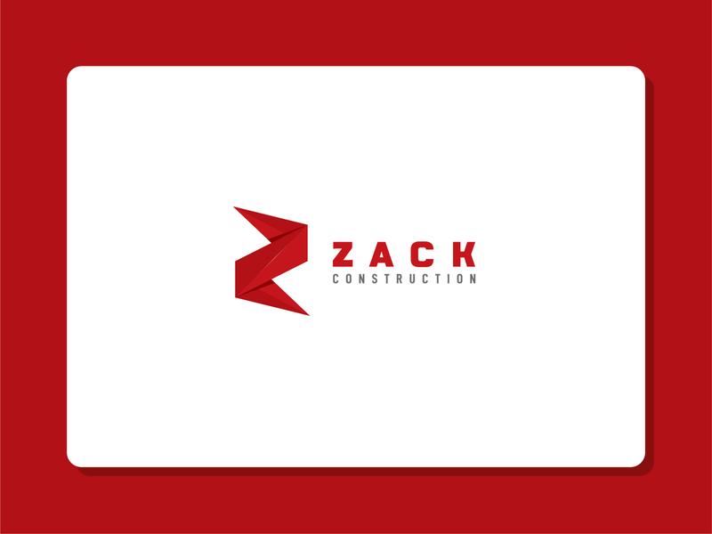 """zack construction"" logo construction logo constructions zack logo zmark zlogo lettering logo 2020 brand identity design creative icon minimal branding logo"