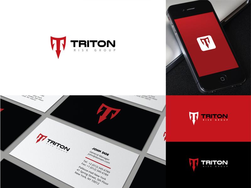 """TRITON"" logo project. triton logo t logo web logo typography new logo creative lettering icon flat minimal branding logo"