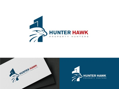 """HUNTER HAWK"" logo project. hawk logo property logo new logo creative lettering icon flat minimal branding logo"