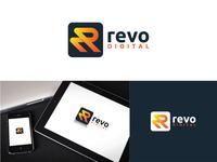 """""""Revo Digital"""" Logo r letter logo r logo logo 2020 creative new logo lettering flat minimal branding logo"""