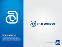 """anastomose"" logo web logo typography logo 2020 new logo lettering creative flat minimal branding logo"