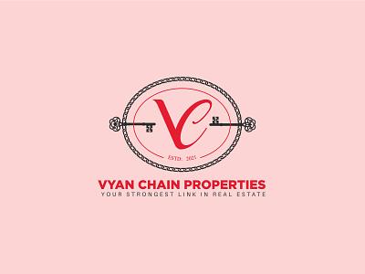 """VC Properties"" Logo retro logo properties logo real estate logo real estate vc logo icon lettering creative flat minimal logo"