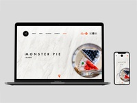 Daily UI #003 Landing Page for Monster Pie