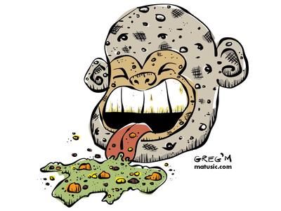 Barf Face Monkey Potato
