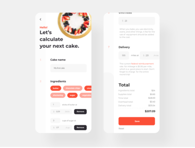 Baking calculator app