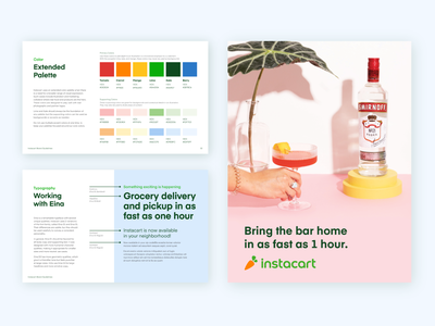 Visual Identity Guidelines grocery instacart branding color palette typography photography visual identity color illustrator brand