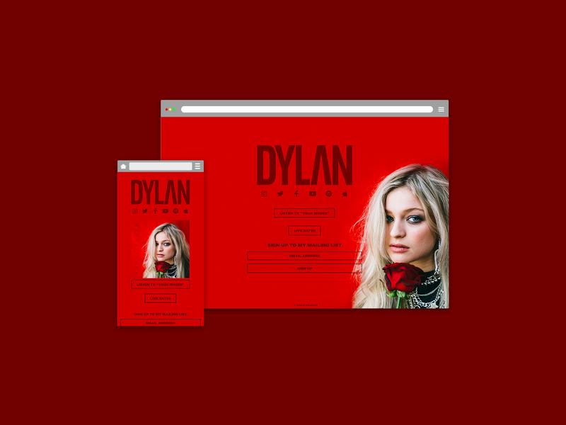 Official website - DYLAN (Singer/Songwriter) new website web developer instagram web development official website songwriter singer artist css html ux ui landing page web design website