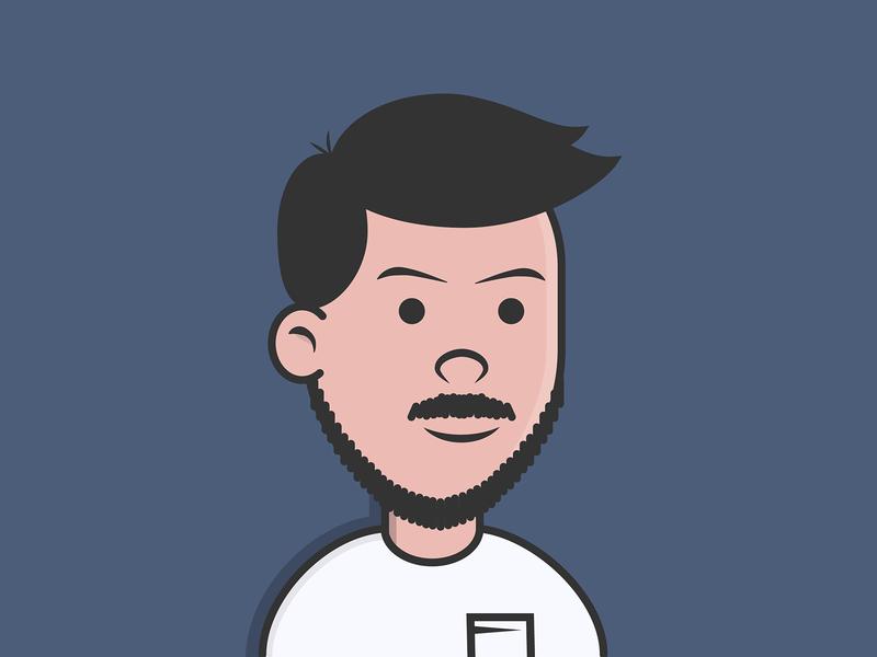 #NewProfilePic side project instagram profile picture profile vector artwork vector illustration flat design adobe illustrator illustration portrait illustration portrait character avatar