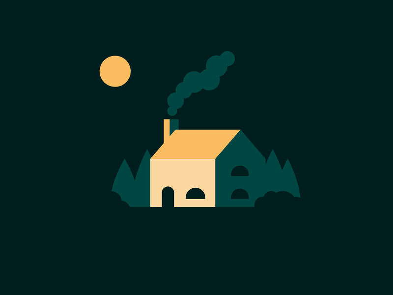 Country House vectorart side project vector illustration night adobe illustrator illustrator graphic design vector art vector digital illustration house design instagram flat design illustration