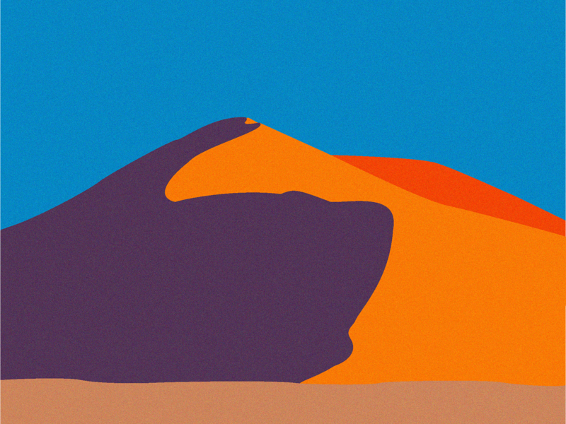 Dune Illustration illustrator post card poster sky namibia sahara desert dune graphic design vectorart adobe illustrator vector art vector illustration side project instagram flat design design illustration