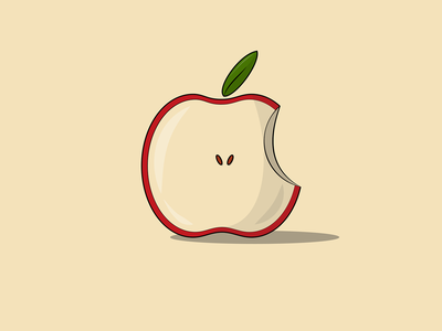 Apple Illustration logo fruit apple graphic design vectorart adobe illustrator vector art vector illustration side project instagram flat design design illustration