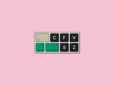 Keyboard Illustration ctrl z computer keyboard illustrator graphic design vectorart adobe illustrator vector art vector illustration side project instagram flat design design illustration