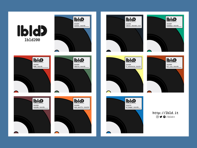 lbld 200 website side project record labels playlists newsletter music logo illustration design branding