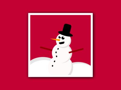 Snowman - Pure CSS Illustration instagram illustration codepen xmas christmas snowman css image pure css css drawing css illustration css html