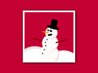 Snowman - Pure CSS Illustration