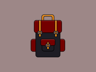 Backpack - Pure CSS illustration vector illustration vector art design backpack html css css3 html pure css vector ui css illustration css drawing codepen flat design illustration