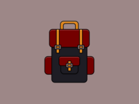Backpack - Pure CSS illustration