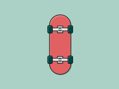 Skateboard - Pure CSS illustration