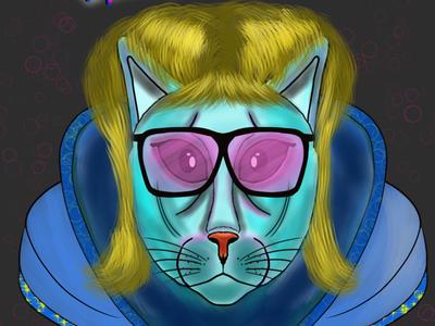 Retro cat