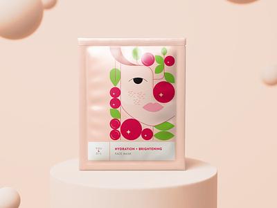 You & Oil package design beauty vector face mask illustration pink blender 3d package design package