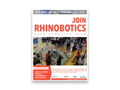 Rhinobotics | Recruitment Flyer - Red
