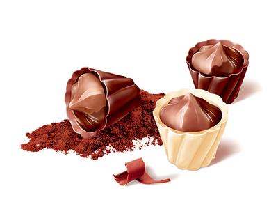 "Chocolate sweets ""baskets"""
