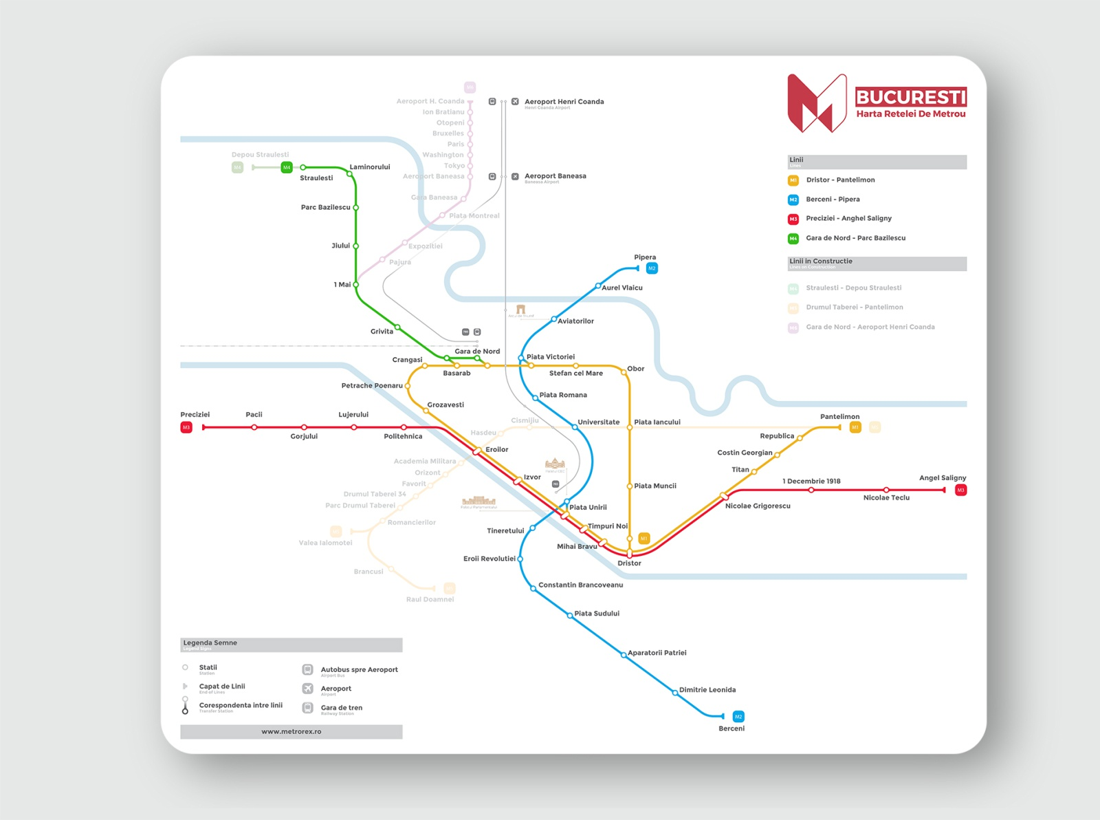 Bucharest Metro Map By Tudor Voinovan On Dribbble