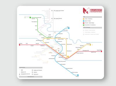 Bucharest Metro Map