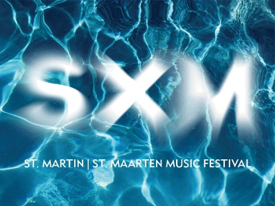 SXMusic Festival movement tropical type art type design typeface branding typography music festival logo st martin water edm electronic electric logodesign graphic design blue waves