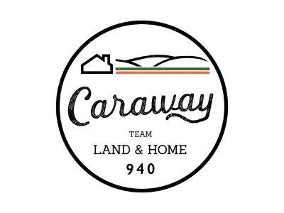Caraway logo brand design icon typography landscape art architcture branding logo illustration real estate real estate logo texas home land