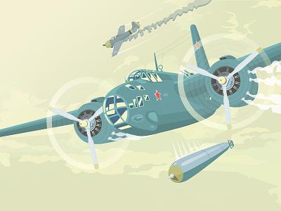 Torpedo bomber vector art vector illustration vectorart vector plane illustration torpedo bomber torpedo bomber
