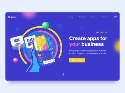 AppLab qr-code credit card card qrcode uidesign illustration web homepage website uiux ux ui interface landing page app finance development mobile app
