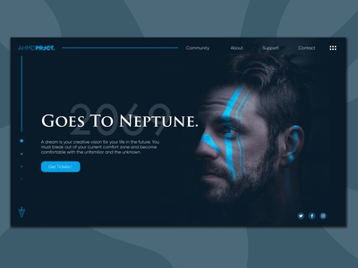 Goes To Neptune - Landing Page