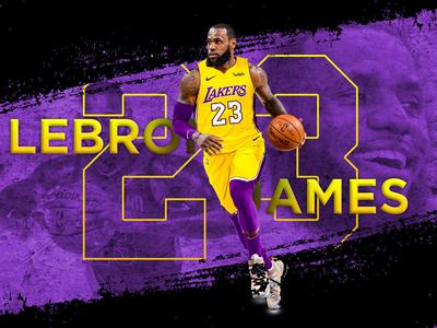 Lebron James Poster (Lakers)
