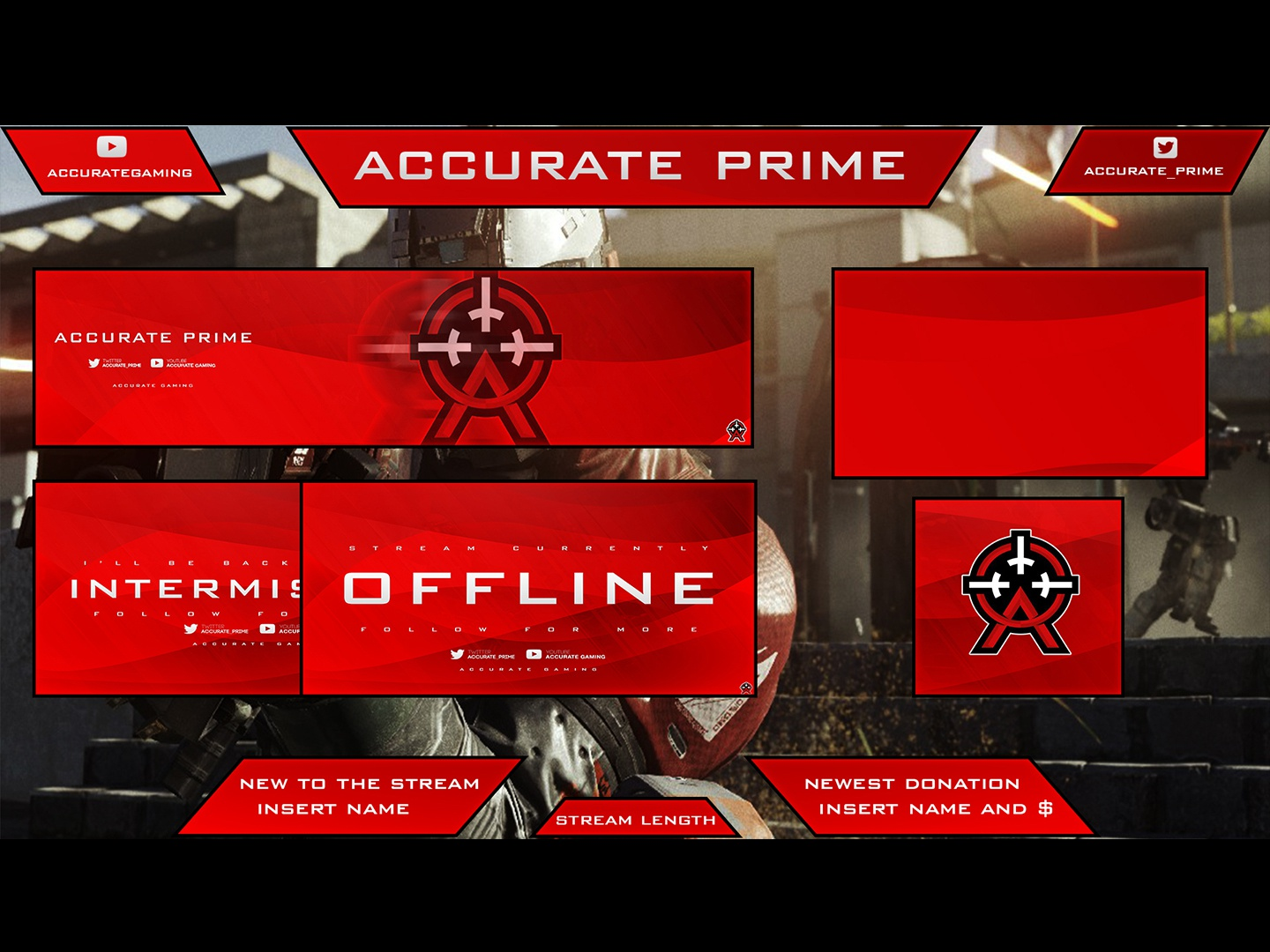Accurate Prime Twitch Overlay Package by Ke'Moni Champion on Dribbble