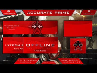 Twitch Overlay designs, themes, templates and downloadable graphic