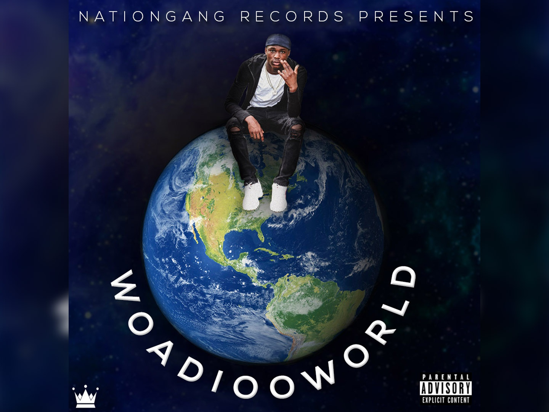 Woadioo World Album Cover animation website brand typography photoshop art illustrator illustration design branding album artwork new music single mixtape cover mixtape hip hop music album cover album art album