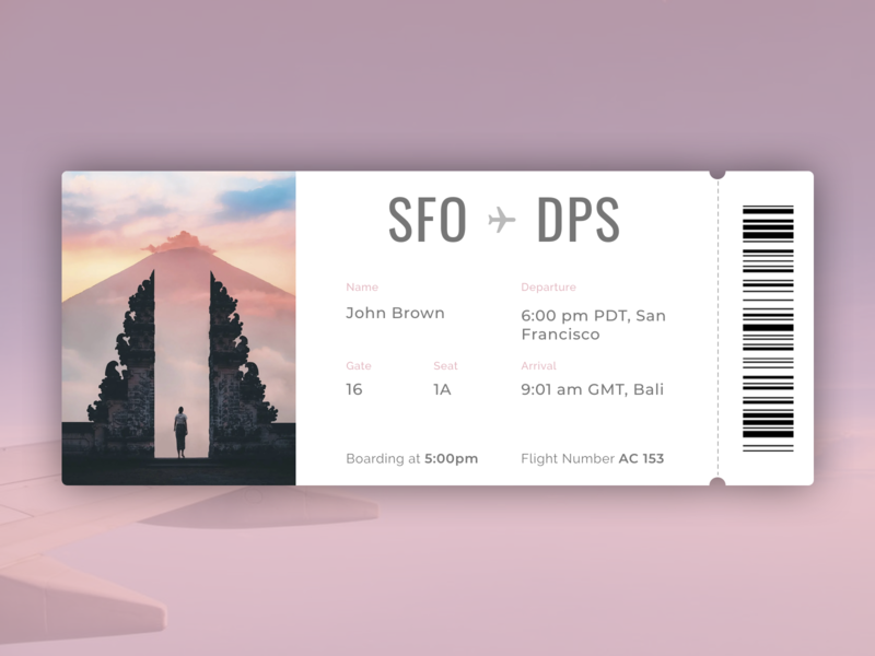 Daily UI 024 | Boarding Pass