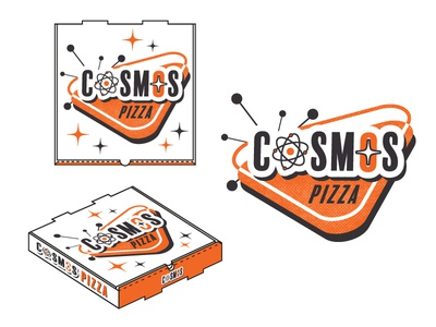 Cosmos Pizza Logo and Pizza Box