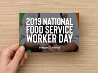National Food Service Day Postcard