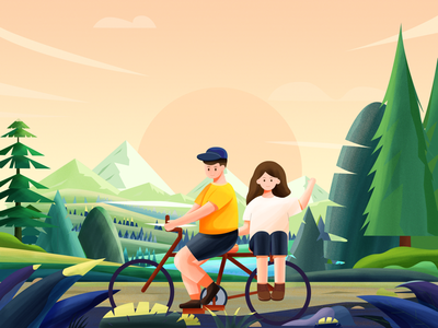 Cycling with loved ones
