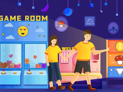 Game room illustration