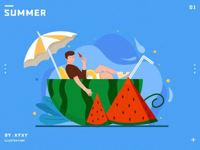 Summer design illustration