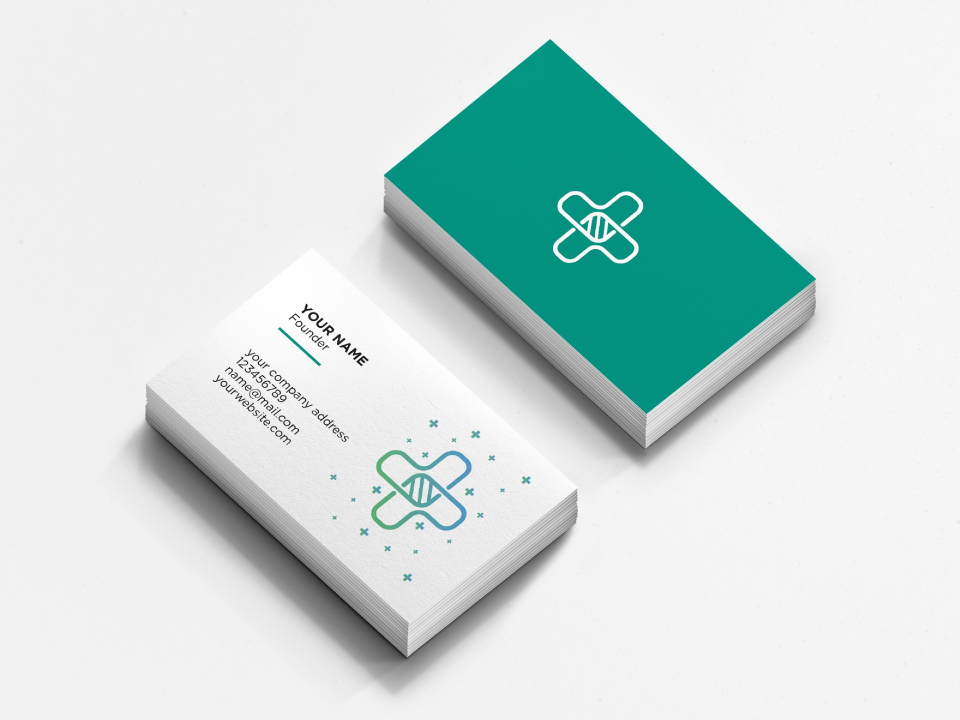 Medical business card concept minimal clean brand art medical design business card design identity branding