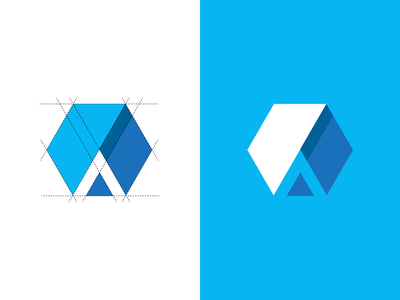 A + Hexagon logo concept