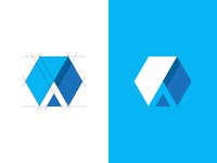 A + Hexagon logo concept
