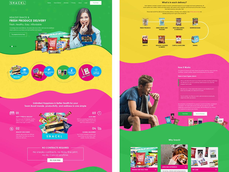 Snackl ux website web ui design
